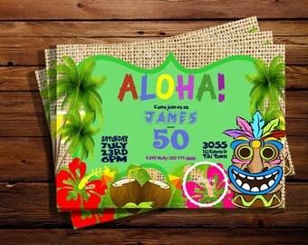 Hawaiian Luau Invitation (Can be Customized for Any Occasion)