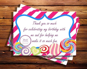 Candyland Thank You Cards