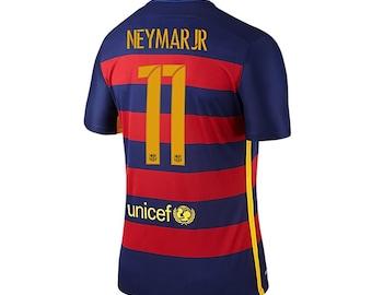Neymar Jr. #11 Barcelona Home Soccer Jersey 2015