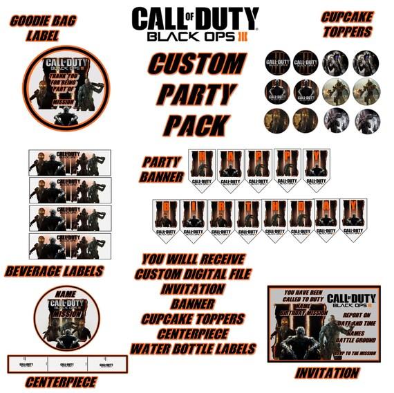 Call Of Duty Black OPS III Custom By GrandmasCakesandTees