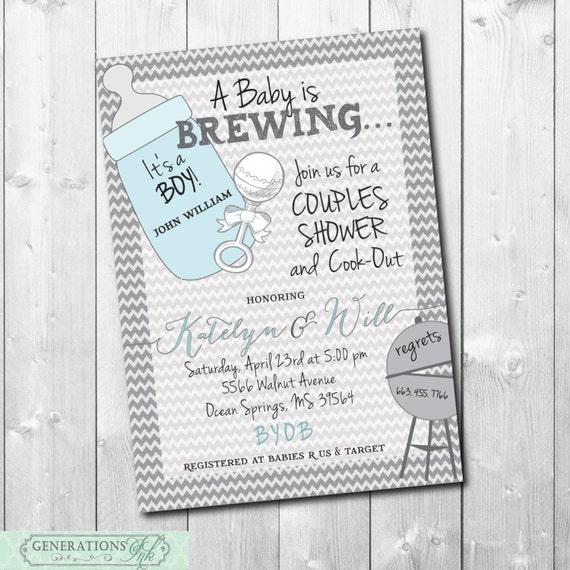 couples baby shower invitation digital file printable wording