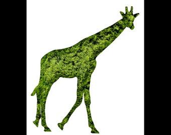 Giraffe Topiary Print