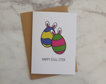 Happy Eggster Easter Egg Bunny Rabbit Seasonal Greeting Card