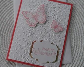 Handmade Greeting Card: Happy Retirement