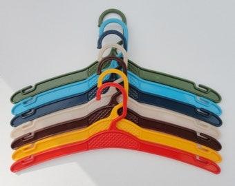Rare Children 70s Vintage Hangers // Set of 7 // Made In Denmark