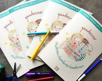 I tell you, you tell me | Mother-child activity book | Burabacio