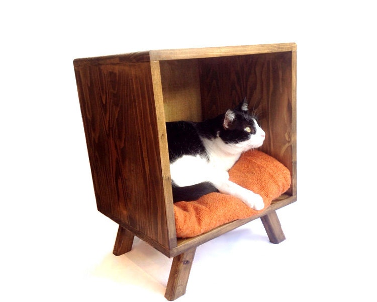 Cat Coffee Table cat bed, mid century modern tables, midcentury bedside table
