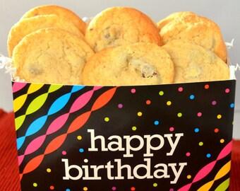20 Chocolate Chip Cookies, Birthday Cookies, Novelty Cookies, Gourmet Cookies, Homemade Cookies, Chewy Cookies, Birthday Cookies,