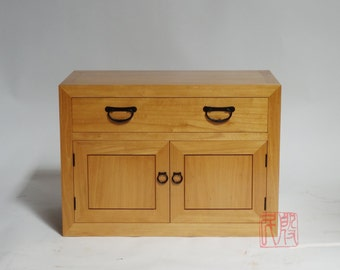 SALE PRICE, Japanese style small low tansu, re-claimed elm wood