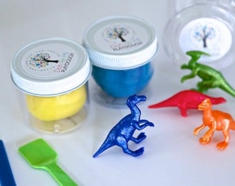 Dinosaur Birthday Party - you choose color - Party Favor - Six Sets