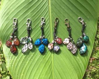 Macrame Crystal Key Rings