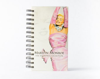 Marilyn Monroe Notebook with Recycled VHS Collection Cover