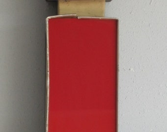 """Reclaimed Letter """"i"""" in Red and Gold Trim"""