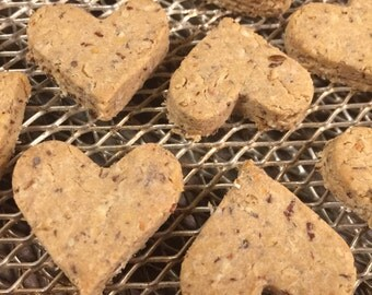 Dog Treats Peanut Butter Kisses Homemade Half Pound Natural Organic No Wheat, No Soy, No Added Sugar 20% of Proceeds Go To Rescue Groups