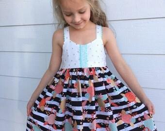 Black and white striped skirt | Etsy