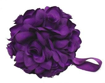 "Deep purple pomander ball for decoration 4.5"" kissing pomander set of 6"