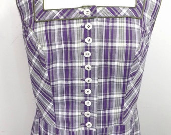 Vintage plaid Durndle! Pretty purples and green!