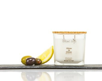 Olivier and lemon, soy candle