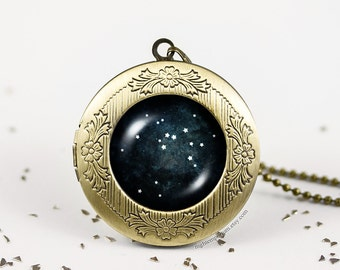 Sagittarius constellation zodiac necklace · personalized locket · Astrology · Handmade · zodiac sign · gifts for her · star signs ·horoscope