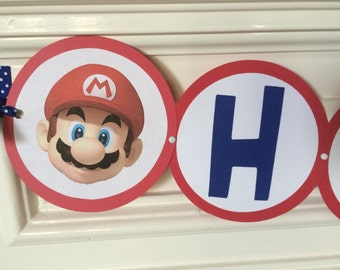 Super Mario inspired birthday banner (without name!), mario birthday, mario party, super mario party