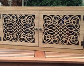 Natural wood spice cabinet - oak and oil