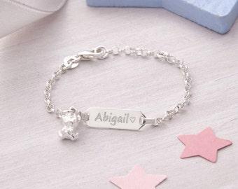 Baby's Personalised Silver Christening Bracelet (HBJB04/33/34)
