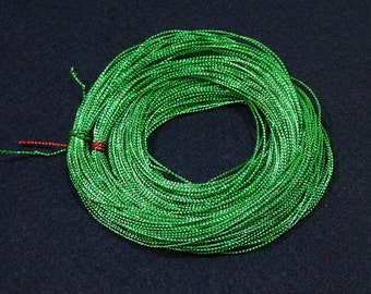 36 yards - 1mm Green Metallic Thread