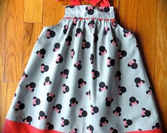 Minnie Mouse Dress - Minnie Dress - Disney Dress - Girls Dress - Toddler Dress - Red Minnie Dress - Custom Disney Dress - Summer Dress