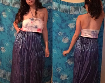 Sparkly Iridescent High Waisted Holographic Skirt