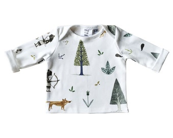 Baby shirt woodland - organic cotton