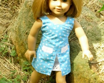 """18 inch doll Summer Dress """"Forget-me-not"""""""