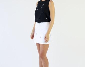 Denim mini skirt | Etsy
