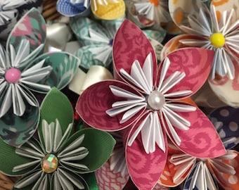 Origami Flower Pens