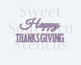 Happy Thanksgiving Cookie Stencil