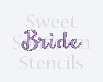 Bride Stencil