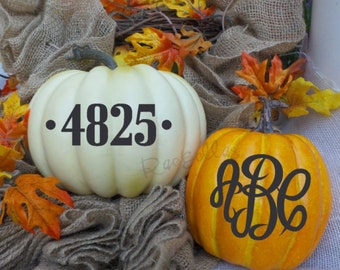 Personalized Decal || Sticker for Pumpkin || Monogram Pumpkin || Fall Decoration || Front Porch Door Decor || Halloween || Happy Fall Yall