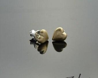 Earrings Hearts Bronze