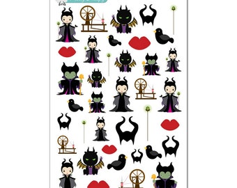 Maleficent Stickers - Disney Planner Stickers