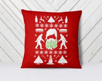 "Beard Pillow, Christmas Gift for Him, Throw Pillow, 18x18"""