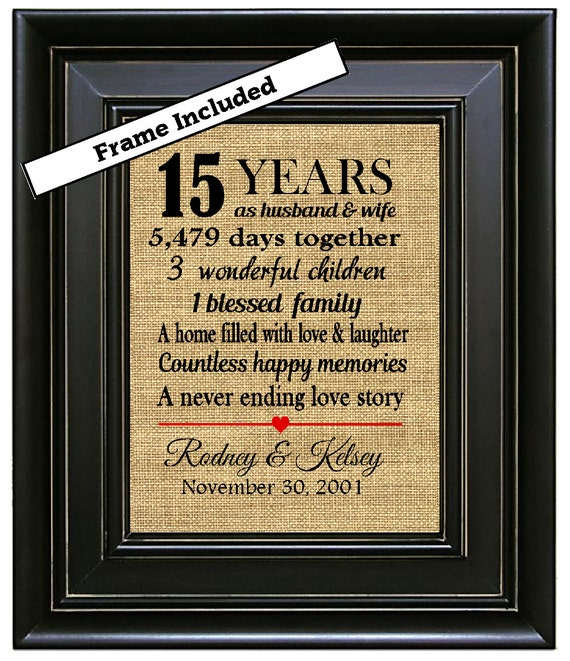 Traditional Gift For 15th Wedding Anniversary