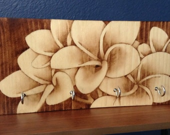 Wood Stained Art Key Hanger