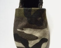 Camo Soft Sole Baby Shoes Baby Mocassins Baby Booties