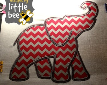 LARGE elephant silhouette profile like Alabama or Bama applique outline embroidery design 7x7 Instant Download monogram