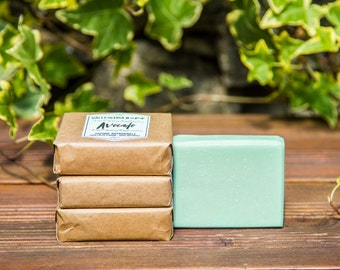 Handmade Soap Avocado, All natural soap, Vegan soap, Homemade soap, Palm free soap, Unscented soap, Cold Process Soap