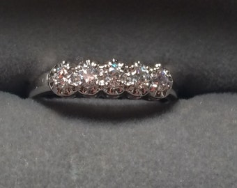 Beautiful 14k gold ring with beautiful CZ / wedding / engagement ring