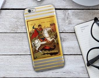 Saint George Iphone Case - Saint George - Iphone Case - Christian Iphone Case - Cellphone Case - Christian Phone Case - Christian - Faith