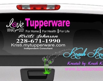 Tupperware Window decal