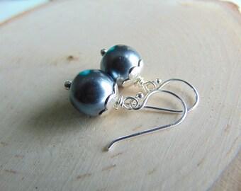 Sterling silverEarrings,PEARL Earrings, petite nature inspired