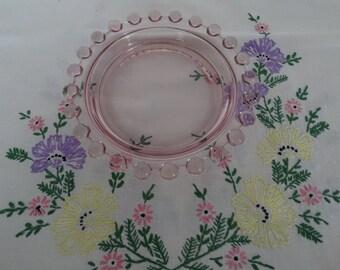Pink Candlewick Ashtray/Dish