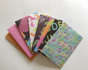 Neon envelopes, snail mail, gift card envelopes, fluro, colourful, stationery, money envelope, scrapbooking, journaling, smash book